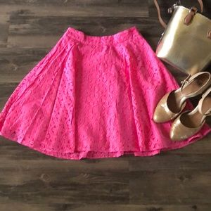 🧩 Lilly Pulitzer Lace Overlay Skirt